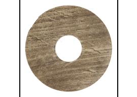 Zelfkl. rozet (17 mm) modern eiken bruin (10 st.)