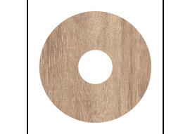 Zelfkl. rozet (17 mm) Mountain Oak l. grey (10 st)