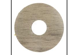 Zelfkl. rozet (17 mm) oud eiken licht (10 st.)