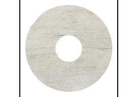 Zelfkl. rozet (17 mm) oud grenen gekalkt (10 st.)