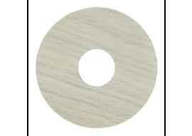 Zelfkl. rozet (17 mm) strandhuis grijs (10 st.)