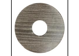 Zelfkl. rozet (17 mm) titanium eik (10 st.)