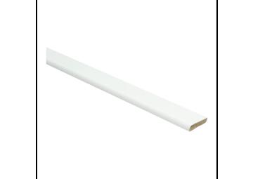 Plakplint hoogglans wit 5x24 mm