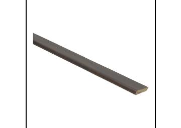 Plakplint palissander zwartvernist 5x24 mm