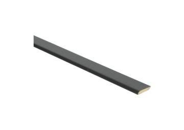 Plakplint zwart hoogglans 5x24 mm