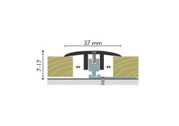 Dilatatieprofiel Kuberit 7-17 mm brons
