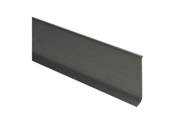 Elegante aluminiumplint RVS geborsteld mat 60x10 mm