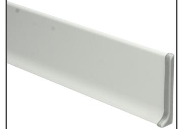 Elegante Eindst. rechts aluminium 60mm
