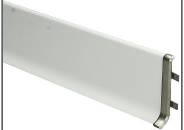 Elegante Koppelstuk RVS geborsteld mat 80 mm