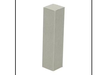 Hoek of eindstuk folie 4 stuks beton gepolijst natuur