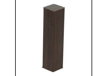 Hoek of eindstuk folie 4 stuks palissander zwartvernist