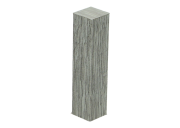 Hoek of eindstuk folie 4 stuks Scarlet Oak light grey