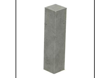 Hoek of eindstuk folie 4 stuks tegel grijs