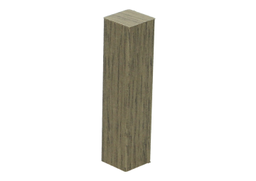 Hoek of eindstuk folie 4 stuks traditional oak