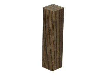 Hoek of eindstuk folie 4 stuks Verdon Oak brown