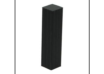 Hoek of eindstuk folie 4 stuks zwart