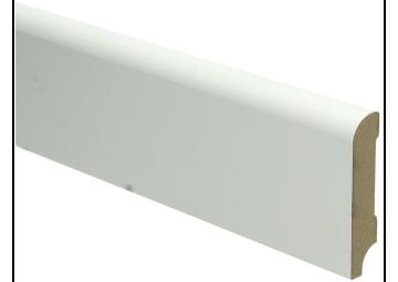 MDF Koloniale plint 70x15 wit voorgelakt RAL 9010