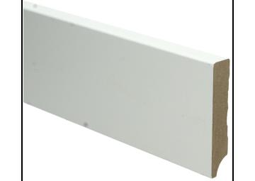 MDF Moderne plint 90x18 wit voorgelakt RAL 9010