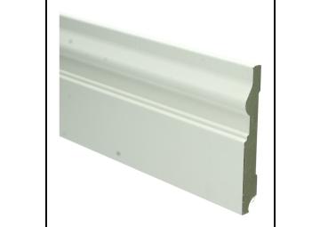 MDF Renaissance plint 120x15 wit voorgelakt RAL 9010