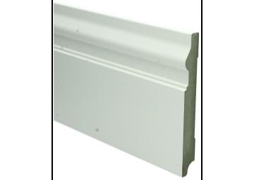 MDF Renaissance plint 150x18 wit voorgelakt RAL 9010