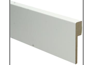 MDF Renovatieplint modern 90x18 voorgelakt RAL 9010