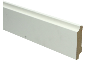MDF Retro plint 70x15 wit voorgelakt RAL 9010