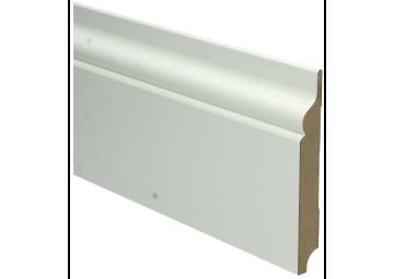 MDF Romantische plint 120x15 wit voorgelakt RAL 9010