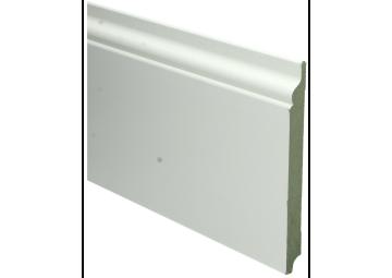 MDF Romantische plint 190x18 wit voorgelakt RAL 9010