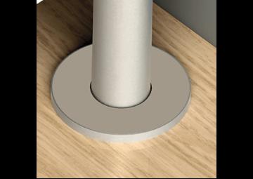 Quick-Step Radiatordopje roestvrij staal (diam. 15mm)
