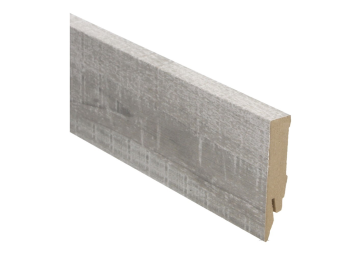 Rechte folieplint 70x14 eik grijs met zaagsnede