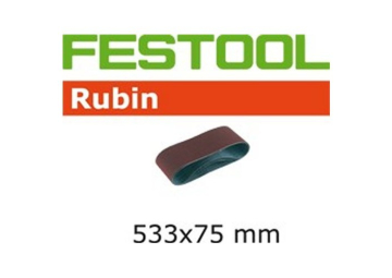 Schuurband Rubin BS75/533x75-P100-RU/ 10st