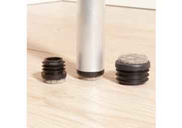 Viltglijder vast vilt ronde holle poten 16-17 mm