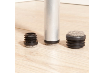Viltglijder vast vilt ronde holle poten 19-20 mm