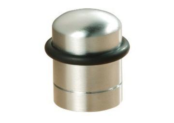 Vloerdeurstopper zilver glanzend