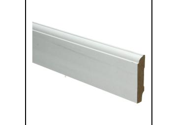 Whiteline plint kwartrondkraal 70x15 wit gefolied
