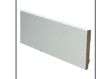 Whiteline plint recht 90x12 wit gefolied