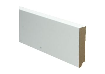 Whiteline plint recht 90x18 wit gefolied