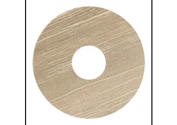Zelfklevende rozet (17 mm) antiek eiken beige (10 st.)