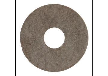 Zelfklevende rozet (17 mm) beton gepol. donker (10 st.)