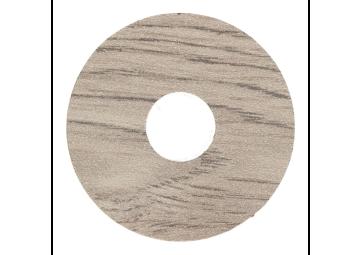 Zelfklevende rozet (17 mm) eiken wit gerookt mat (10st)