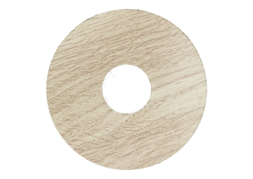 Zelfklevende rozet (17 mm) eiken wit getint (10 st.)