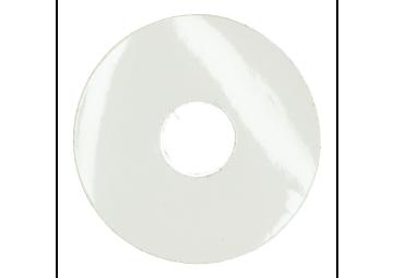 Zelfklevende rozet (17 mm) hoogglans wit (10 st.)