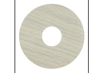Zelfklevende rozet (17 mm) strandhuis grijs (10 st.)