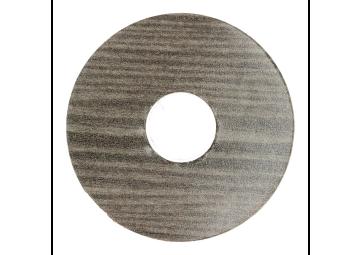 Zelfklevende rozet (17 mm) titanium eik (10 st.)