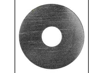 Zelfklevende rozet (17 mm) trendy zwart (10 st.)