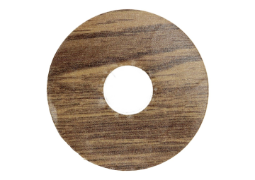 Zelfklevende rozet (17 mm) Verdon Oak brown (10 st.)