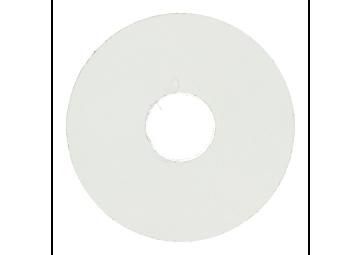 Zelfklevende rozet (17 mm) wit (10 st.)