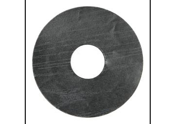 Zelfklevende rozet (17 mm) zwart (10 st.)