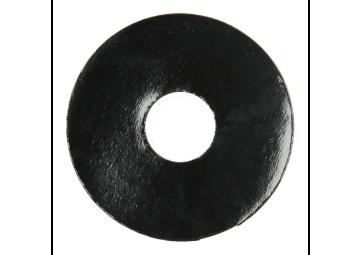 Zelfklevende rozet (17 mm) zwart hoogglans (10 st.)