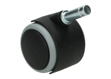 Zwenkwiel zwart 50 mm zacht + stift 11 mm